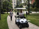 海南陵水清水湾老人喜提D2老年人代步车