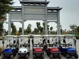 东莞华阳湖引进高尔夫电动观光车方便游客自驾自由行